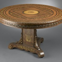 Carved Inlay Dining Table