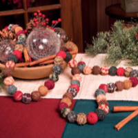 Cloth Ball Holiday Garland