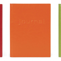 Color Burst Italian Leather Journals