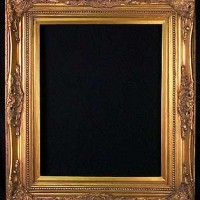 Custom Size Gold Picture Frame