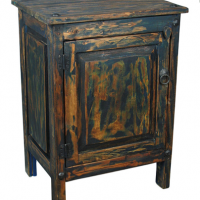 Dark Blue Rustic Nightstand