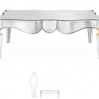 Deco Style Mirrored Coffee Table