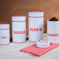 Enamel Kitchen Canisters