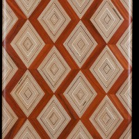 Exotic Hardwood Diamonds Pattern Cutting Board