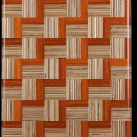 Exotic Hardwood Parquet Cutting Board