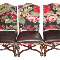Floral Finial Side Chairs