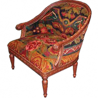 Floral Vintage Kilim Club Chair