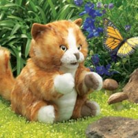 Fluffy Kitten Hand Puppet
