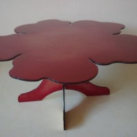 Glass Flower Coffee Table