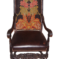 Gothic Chair in Vintage Floral Kilim