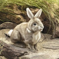 Grey Cottontail Bunny Hand Puppet