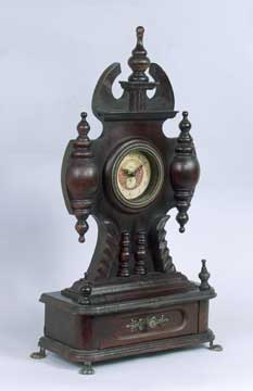 Hand-Carved Antique Mantle Clock