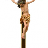 Hand-Carved Body of Christ on Cross