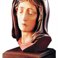 Hand-Carved Head of Madonna