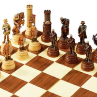Hand-Carved Italian Chess Set