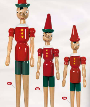 Hand-Carved Italian Pinocchio Toys