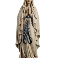 Hand-Carved Lady of Lourdes