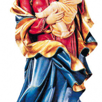 Hand-Carved Madonna of the Heart