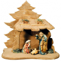 Hand-Carved Nativity Scene