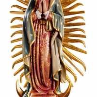 Hand-Carved Our Lady of Guadalupe