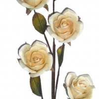 Hand-Carved Wooden Roses