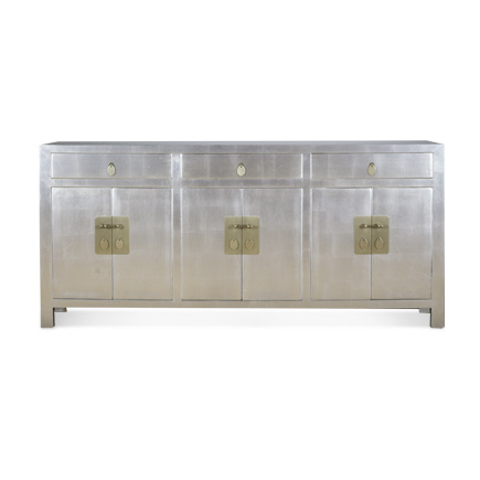 Hand Leafed Silver or Gold Cabinet
