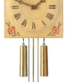 Hand Painted Chiming Clock