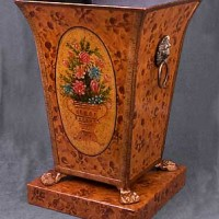 Hand Painted Floral Stand