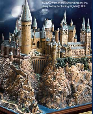Hand-Sculpted Hogwarts Castle
