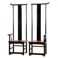 High Back Lacquer Chair Set