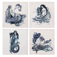 Indigo Mermaid Canvases