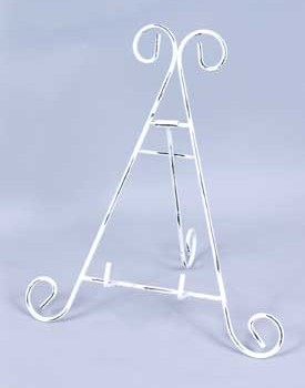 Iron Display Stand, white