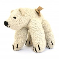 Kenyan Knitted White Bear Toy