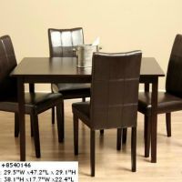 Leather Backed Dining Set