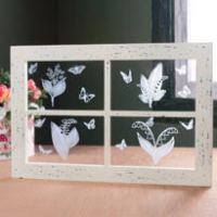 Lily of the Valley Etched Window Pane