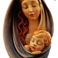 Madonna & Child Woodcarving