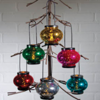 Mercury Glass Tealight Candle Tree