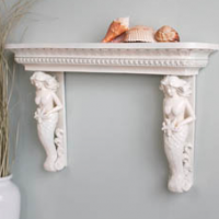 Mermaid Caryatid Shelf