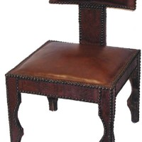 Moroccan Leather Accent Chair