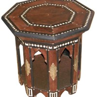 Moroccan Leather Side Table