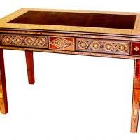 Moroccan Wood Mosaic Desk