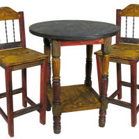 Multi-Color Bar Table & Stools Set