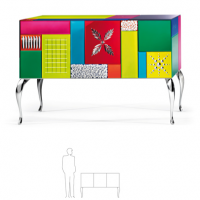Multi-Color Mirror Sideboard