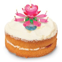 Musical Flower Birthday Candle