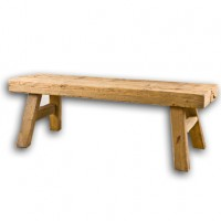 Natural Wood Bench 10623