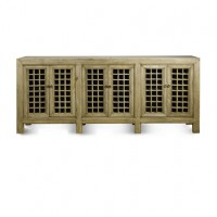 Natural Wood Lattice Cabinet