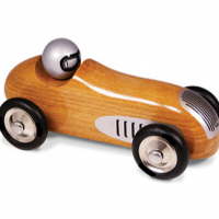 Natural Wood Racer Toy