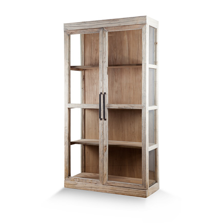 Natural Wood Shelving Cabinet