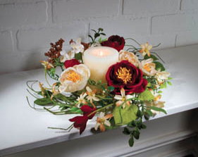 Ophelia Flowers Candle Ring