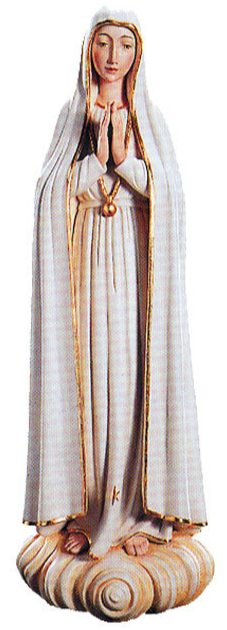 Our Lady of Fatima Woodcarving